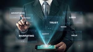 تامین تجهیزات videoblocks businessman with brand hologram concept choose trust from words sk8xiejte thumbnail full11